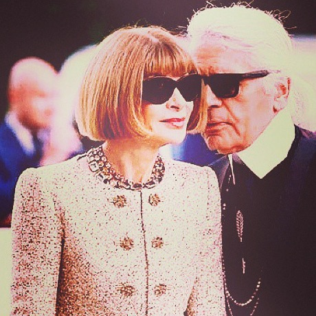 anna wintour and Karl lagerfeld