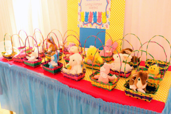 kids' easter party, easter egg hunt ideas, easter party ideas, stuffed animals