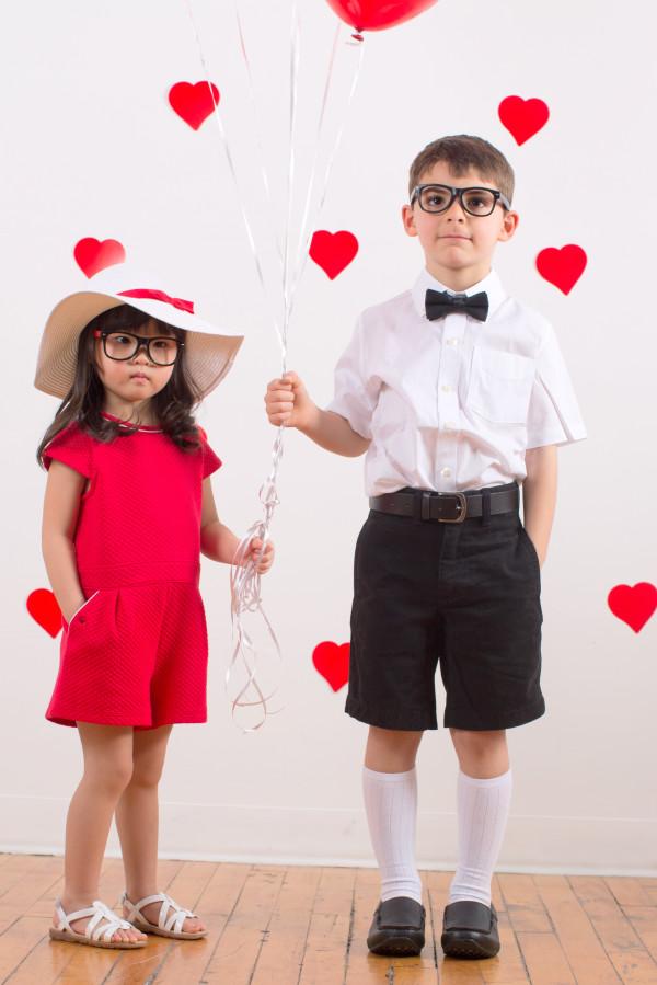 kids valentines party, kids valentines photos, kids valentines day photo shoot