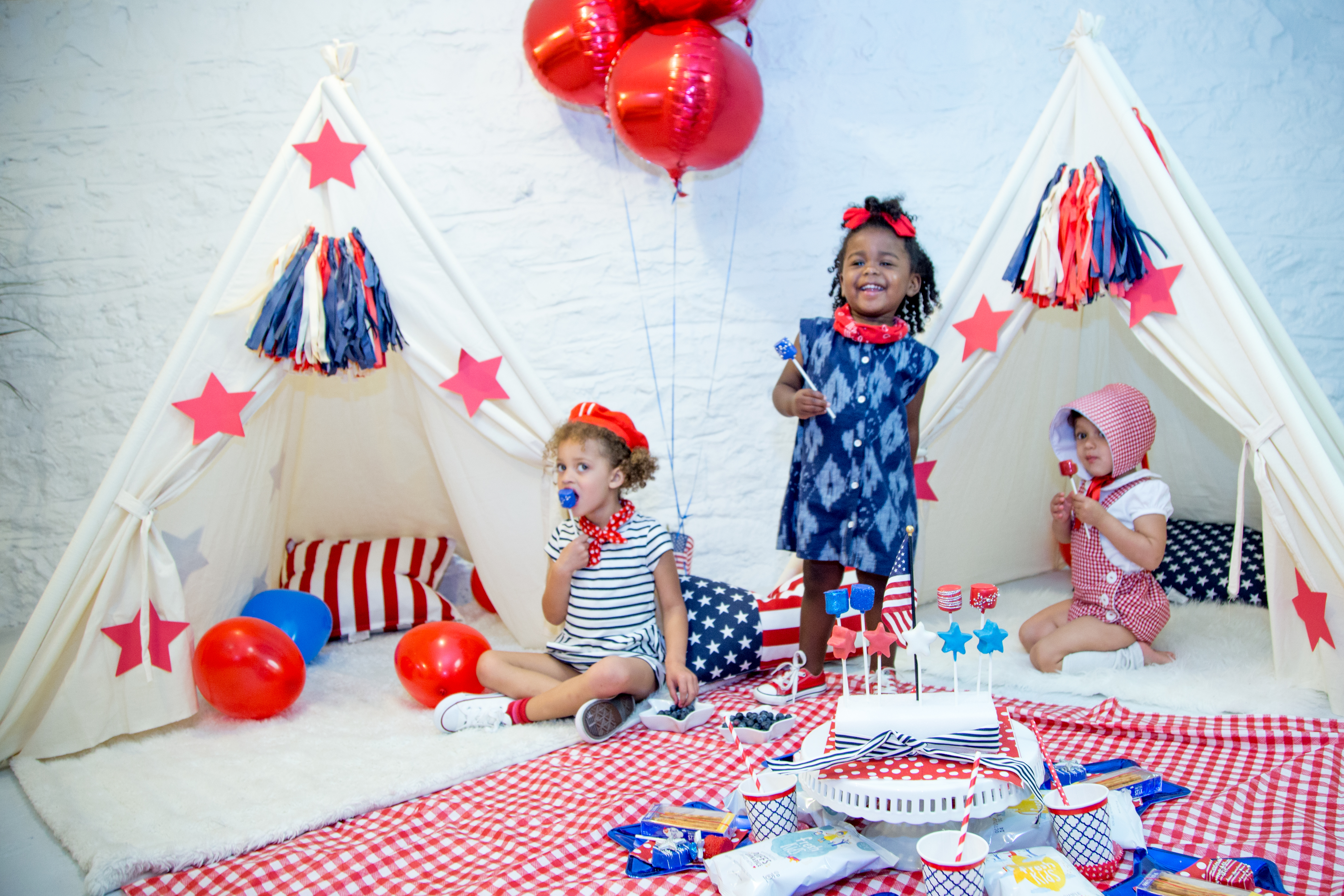 fourth of july decor, kids party