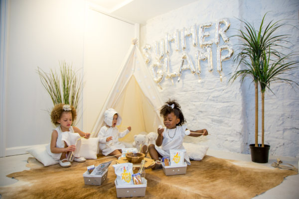 how to plan a glamping party, kids party planning, white party