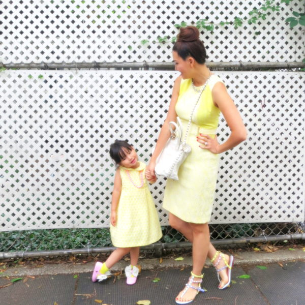 matching mom daughter, nyc mom, nyc kid, minime, mother daughter fashion