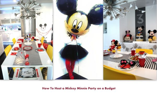 kids mickey party, mickey mouse party, how to host a kids birthday party on a budget
