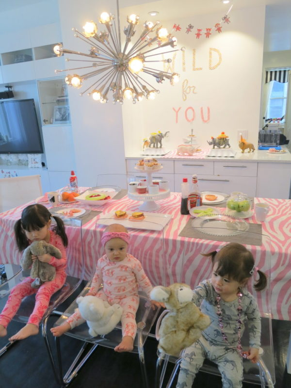 pancakes and pajamas, kids party, galentine, valentine, posh play date