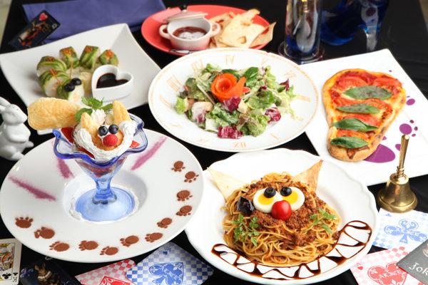 themed restaurants japan, alice in wonderland restaurant in japan, cute japanese cafes, themed cafes in japan