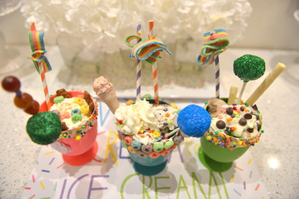ice cream party, black tap ice cream