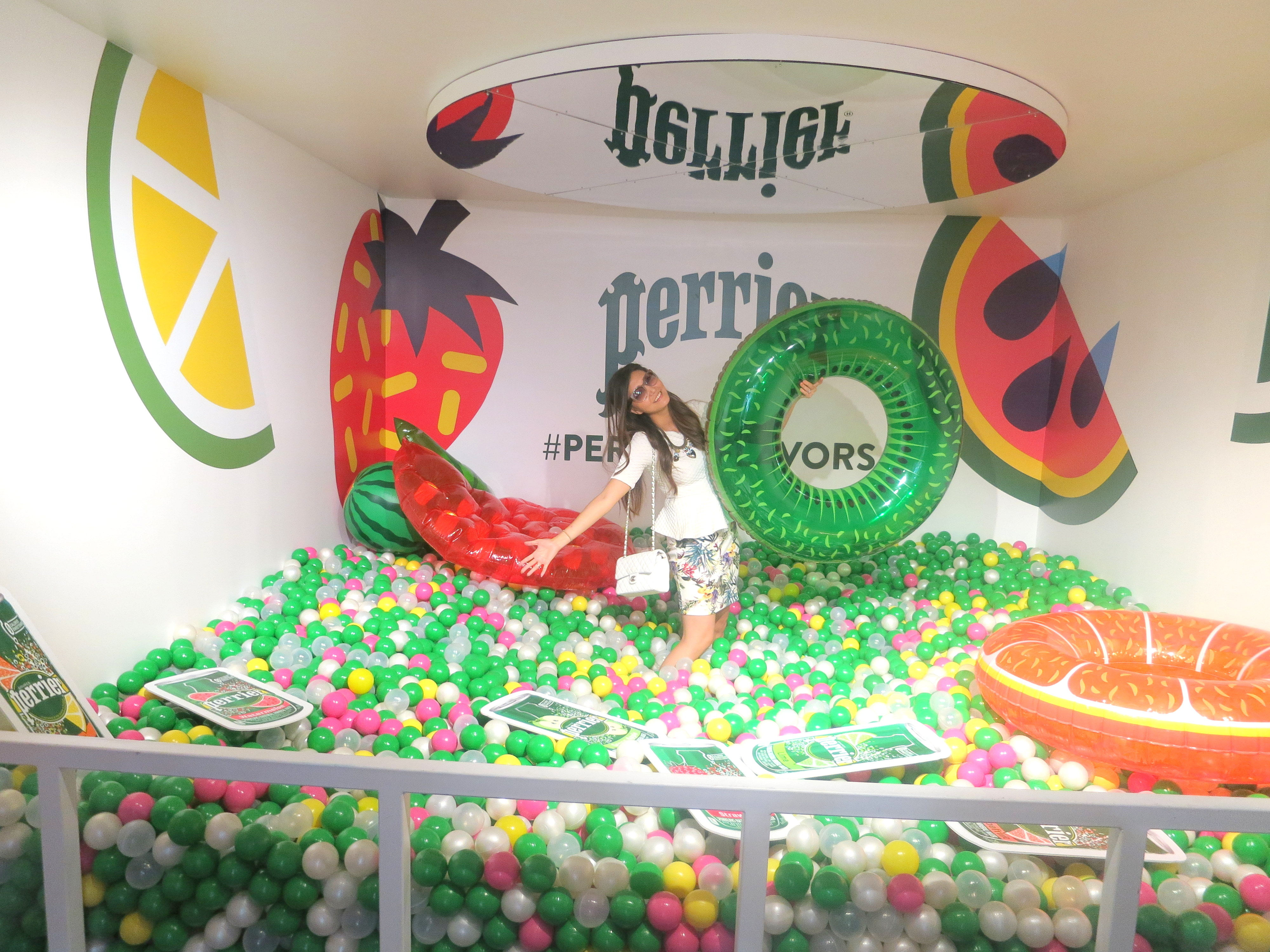 perrier pop up ,perrier nyc, ball pit