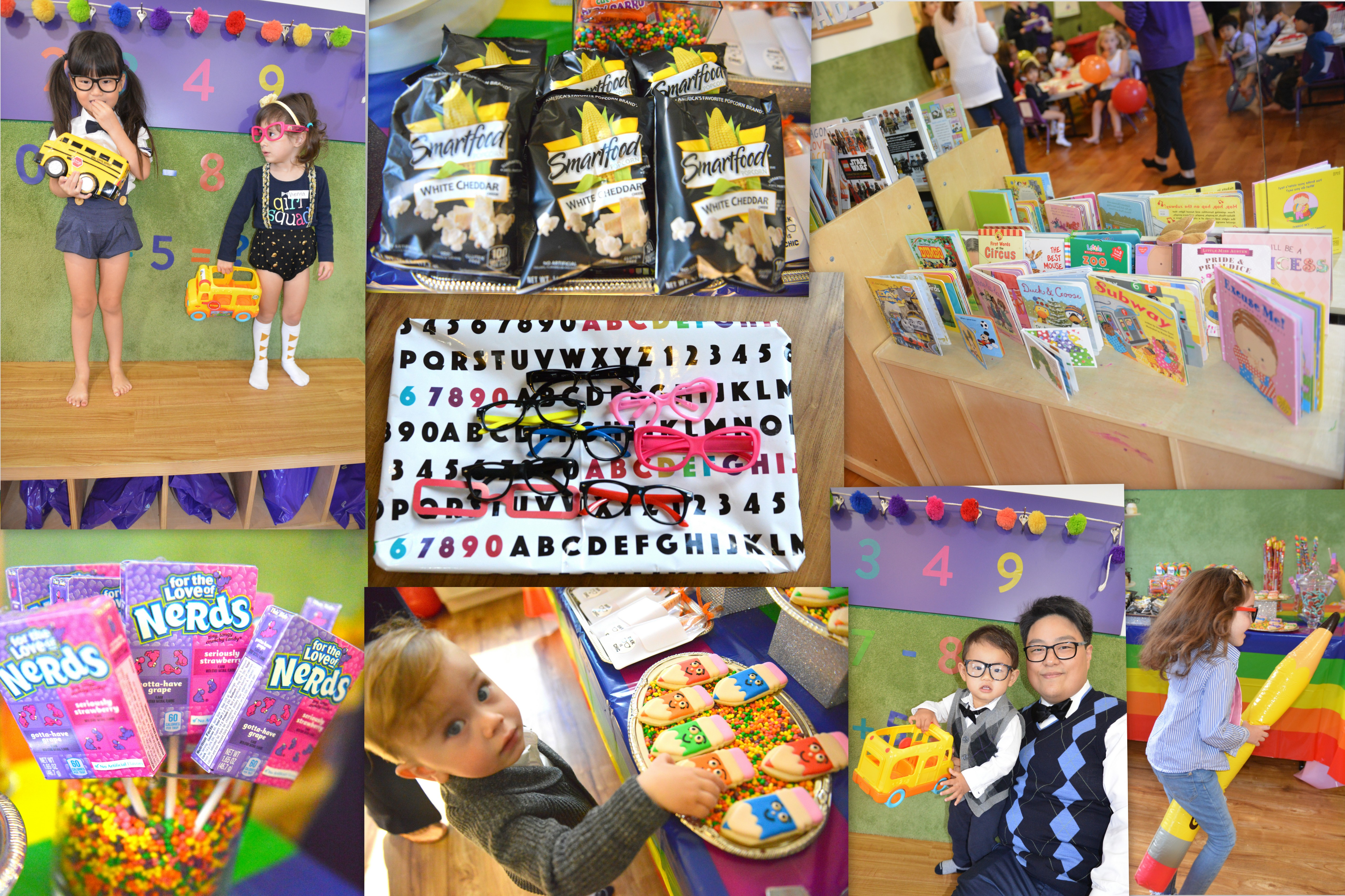 back to school bash, nerdy party, geek chic party, school is cool party, kids party ideas