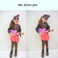 halloween costume, rocker chick, rock on, toy guitar
