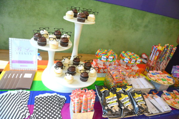 back to school dessert table, nerdy snacks, nerdy candy, nerd cupcakes