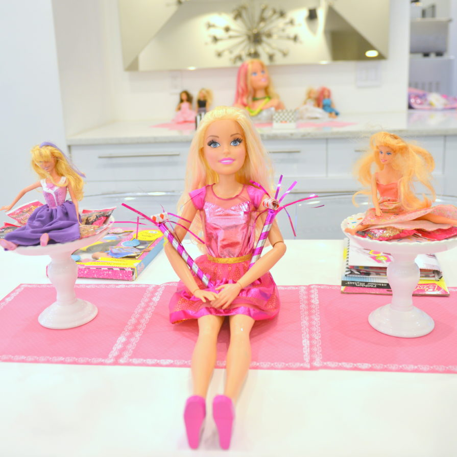 barbie girl, barbie themed party, barbie styling head,
