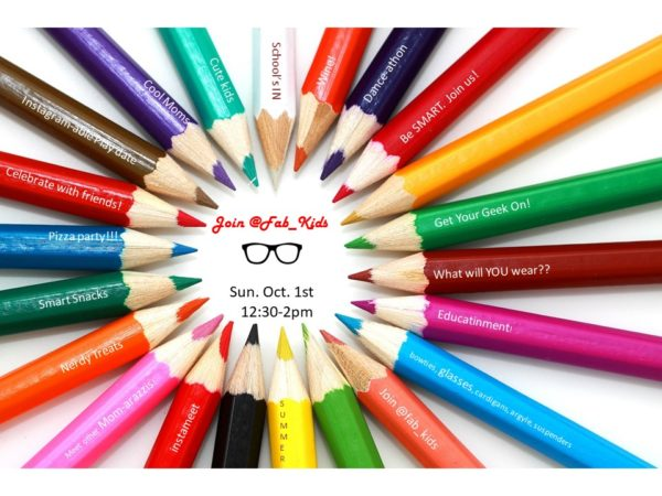 colored pencil invite, back to school invite
