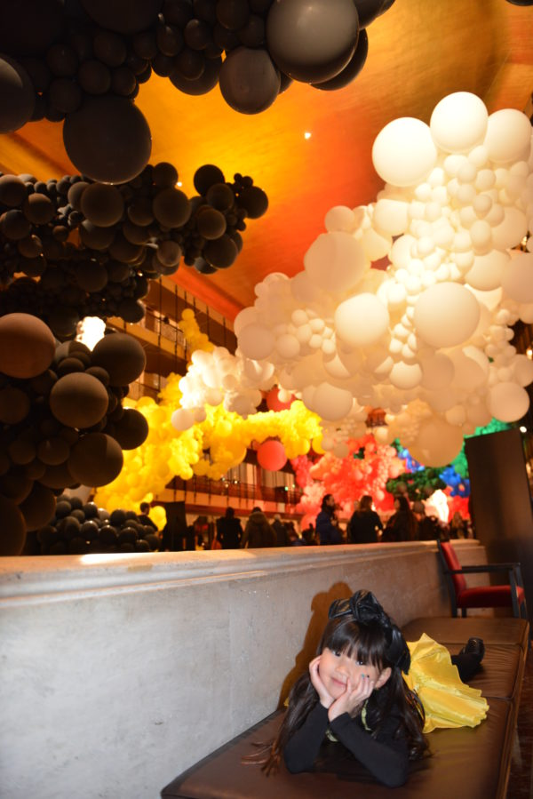 ballloon display, lincoln center art, nycb art series, geronimo balloons, geronimo, geronimo balloon