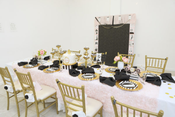 chanel style, chanel shower, chanel inspired party, chanel 50th, chanel 40th, chanel birthday, chanel kids party, chanel girls party