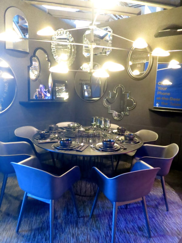 dining by design, black dining room, black interiors, black wall, black furniture
