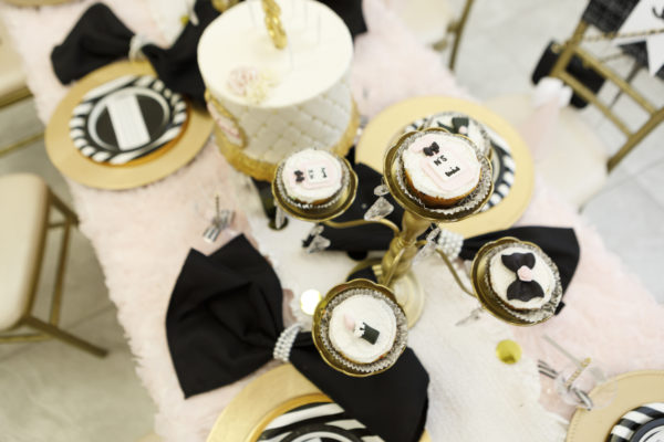 chanel themed desserts, chanel cake, chanel cupcake, chanel cupcake toppers