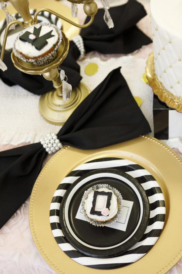chanel cupcake topper, chanel cupcake, chanel dessert, chanel party ideas, chanel themed party, chanel inspired party, spa party