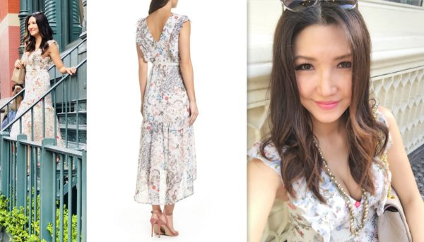 floral dress, maxi dress, spring style, summer style