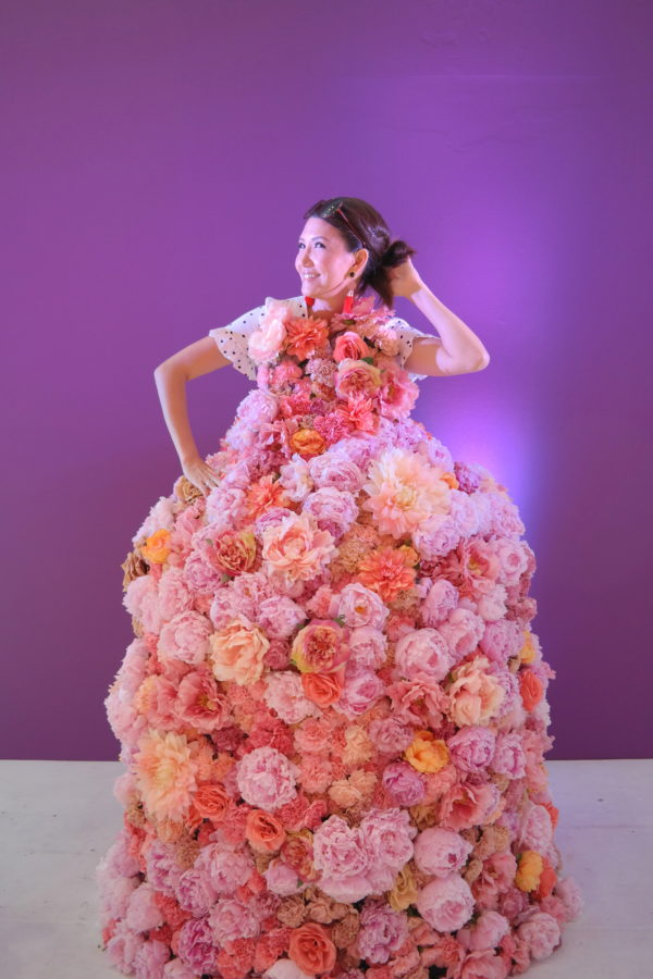paypal pop up, cashnback popup, nyc popup, floral dress, paypal nyc popup