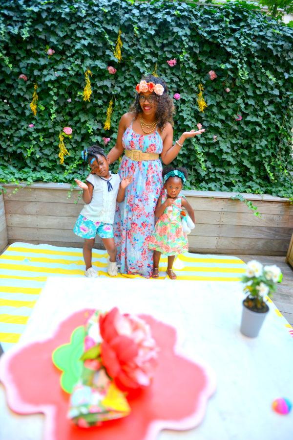 flower girls, flower themed party, flower party ideas
