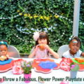 flower themed party, flower power party, floral themed party