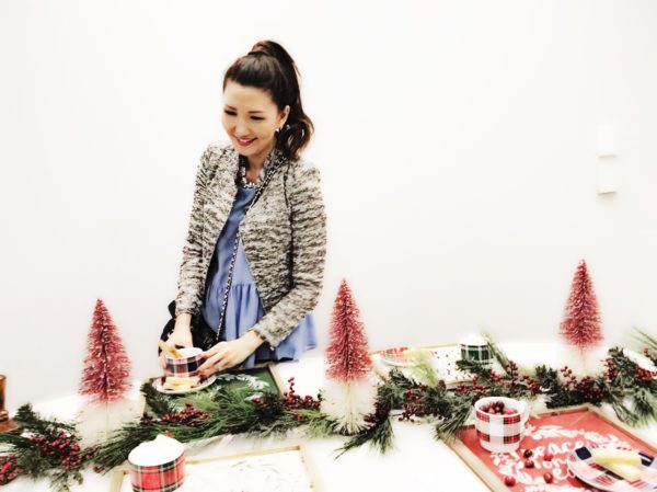 christmas tablescape, jcpenney holiday decor, peyton and parker