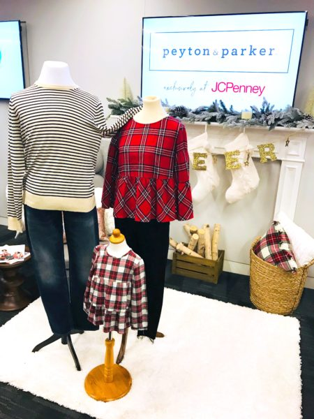 peyton and parker, peyton & parker, jcpenney clothes, plaid trend, plaid top, plaid blouse, family photo outfits
