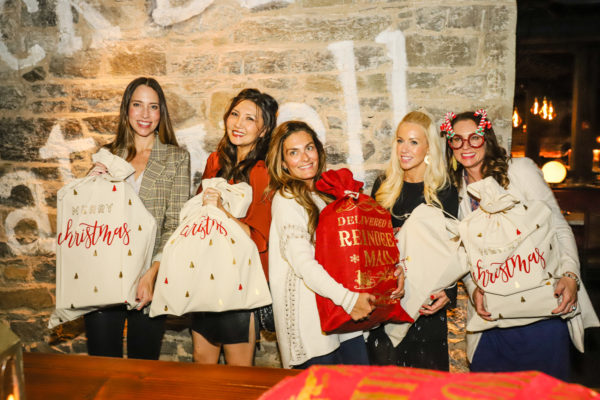 eo creative works, santa bag, nyc bloggers, mom bloggers, holiday event, christmas party