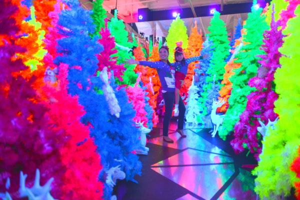 colorful christmas trees, nontraditional christmas trees, falaland fa la land, fa la land popup, la popup