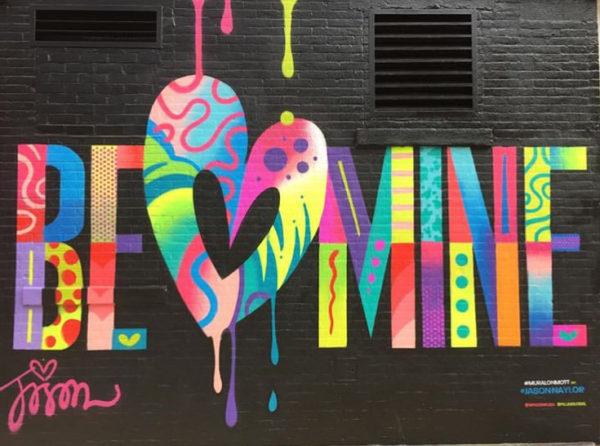 nyc street art, best nyc street art, nyc graffiti, valentines graffiti, valentines nyc