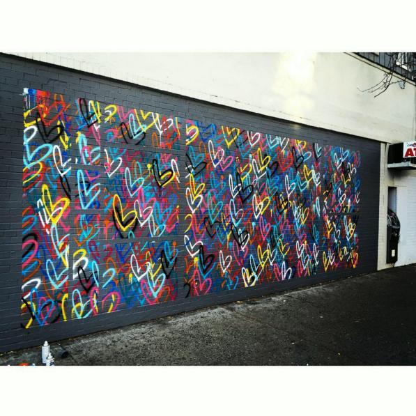 love wall, j goldcrown, nyc street art, valentines street art nyc, heart street art nyc