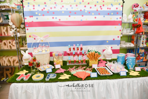 easter dessert table, easter dessert, easter party ideas, how to plan an easter party for kids