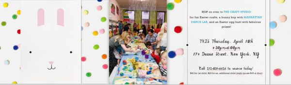 kids' easter party, the craft studio, easter parties in nyc