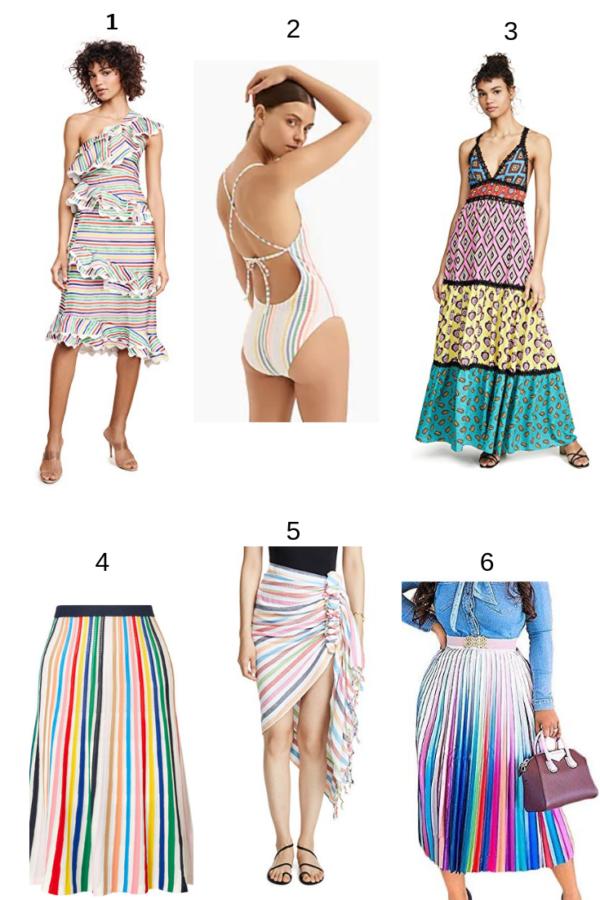 rainbow fashion, rainbow dresses, rainbow swimsuit, rainbow coverup, rainbow women's clothes, rainbow dress, rainbow skirt