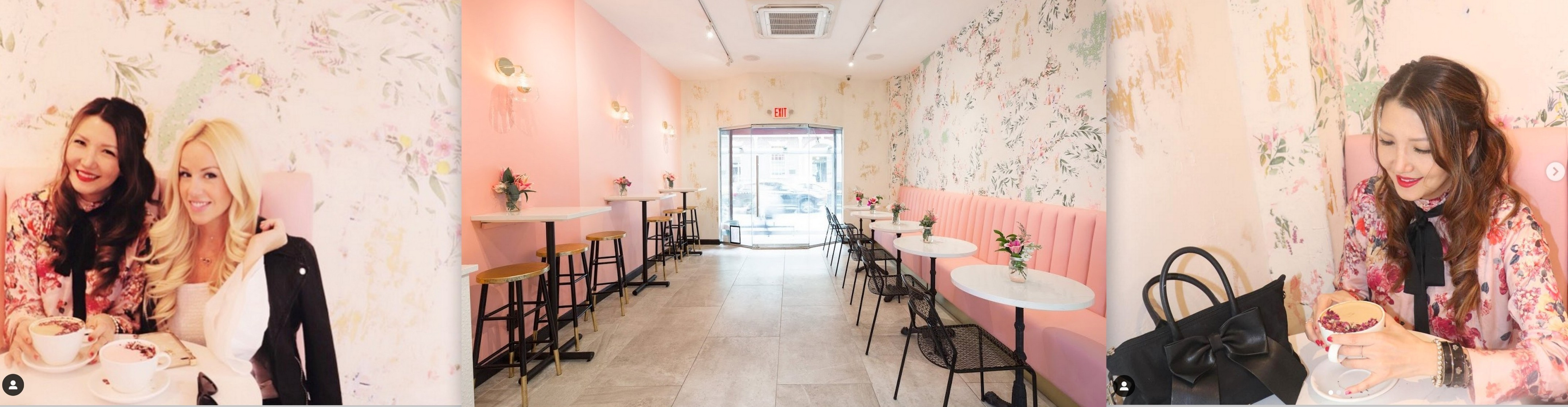 best nyc cafes, instagramable nyc, instagramable nyc cafes, instaworthy nyc, pink nyc restaurant