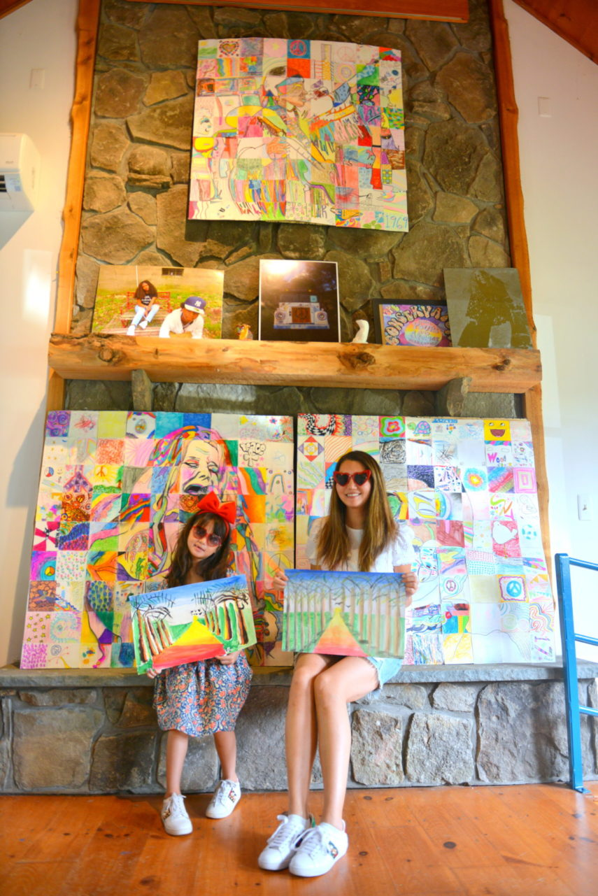 woodstock, arts camp, painting with mom, painting class, center for the arts bethel woods