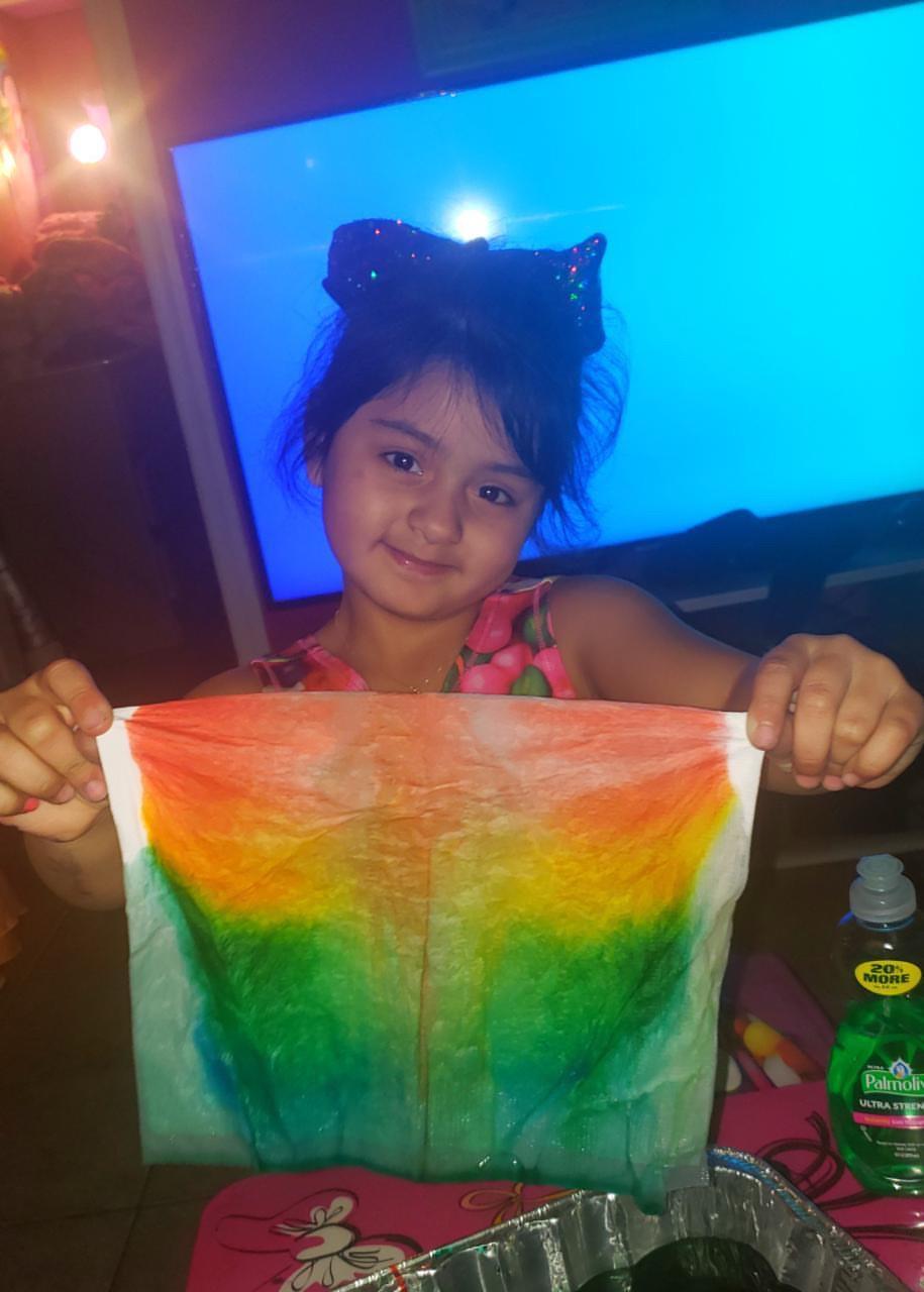 rainbow corona virus, rainbow art, kids' rainbow art, rainbow message, rainbow quarantine