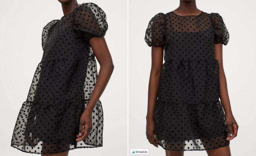 h&m dress, hm dress, hm black dress