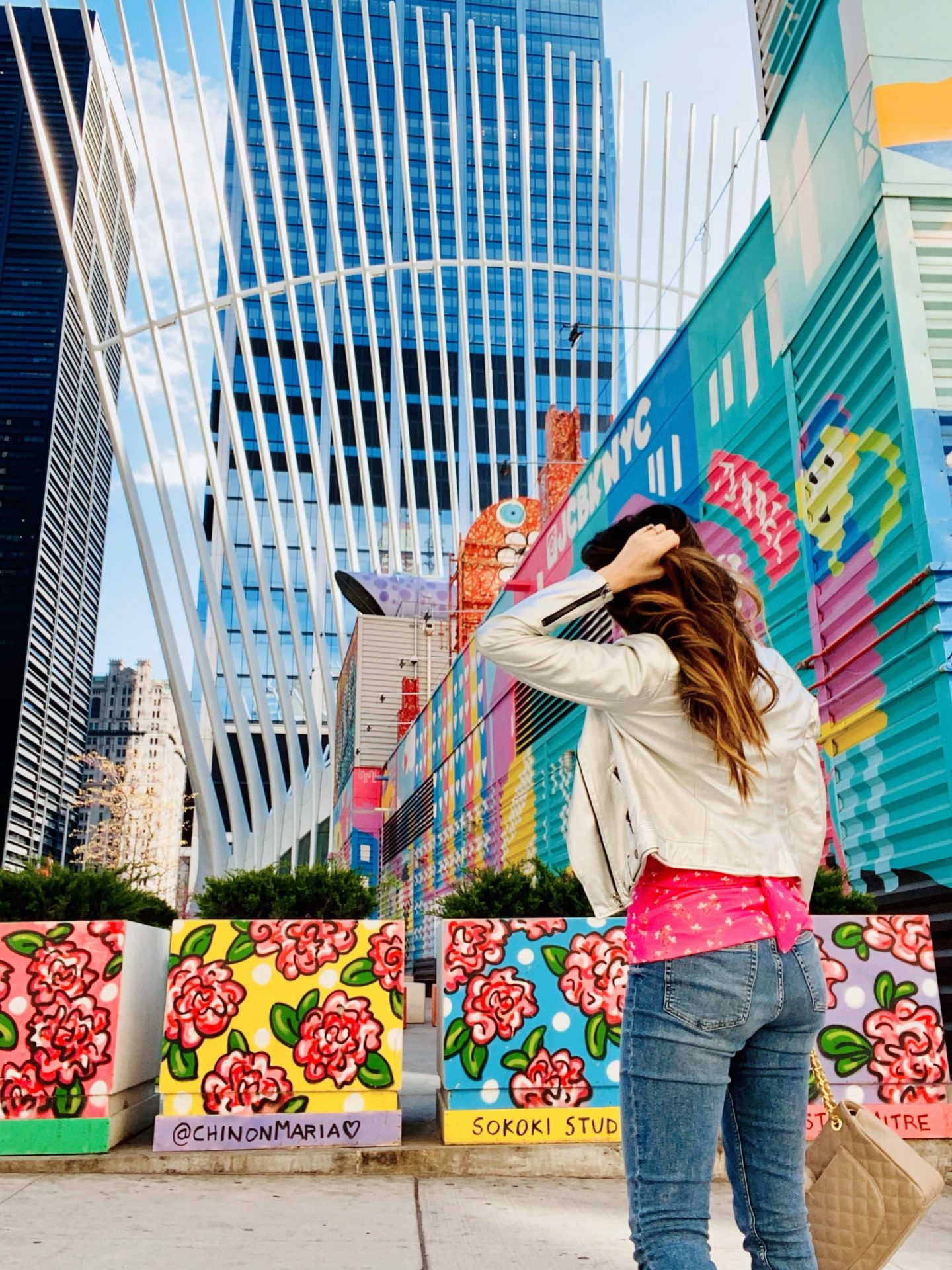 nyc street art, wtc, world trade center, nyc blogger, instagramable nyc, nyc mural art, fidi nyc, oculus nyc