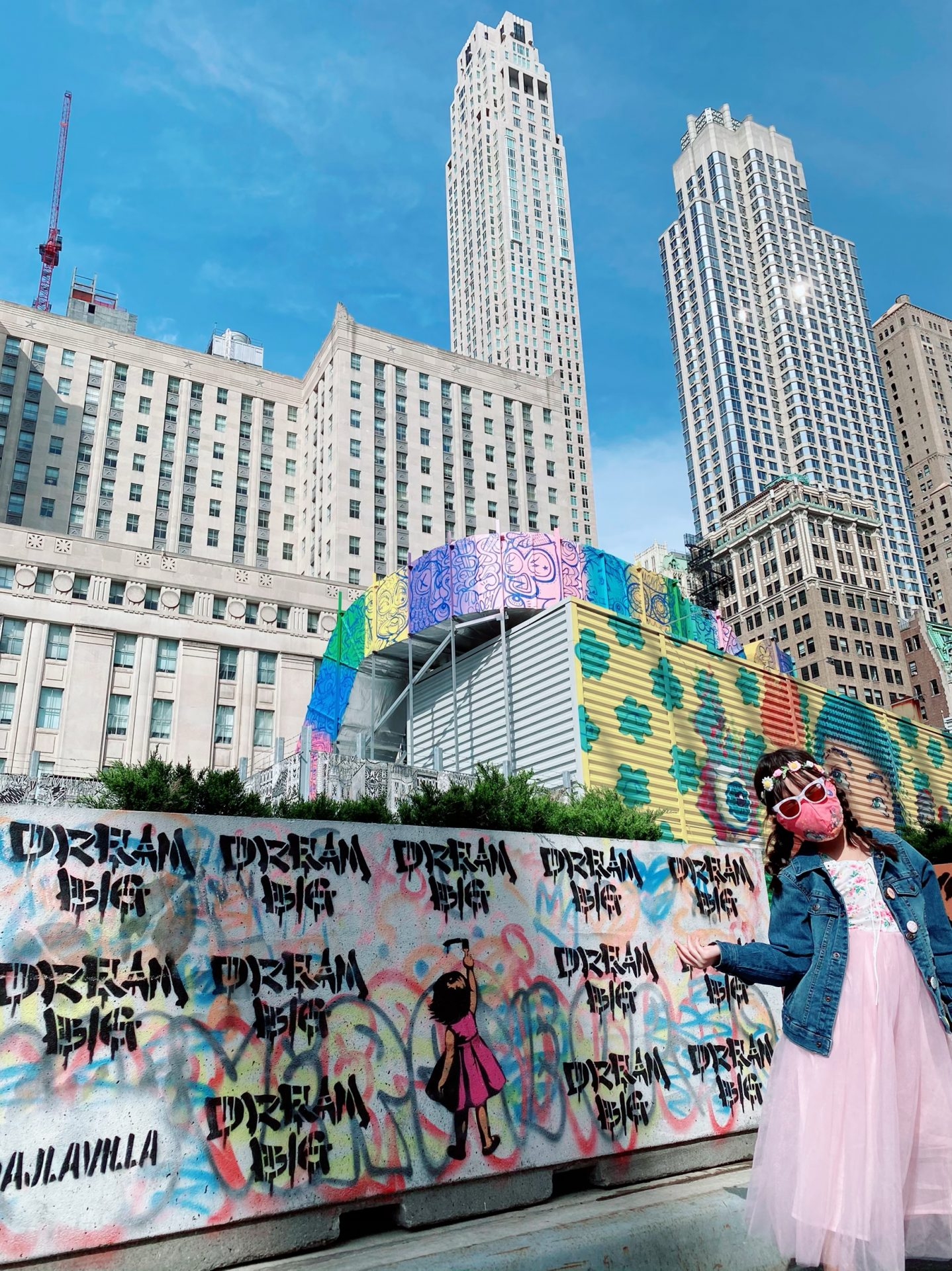 nyc street art, wtc, world trade center, nyc blogger, instagramable nyc, nyc mural art, fidi nyc
