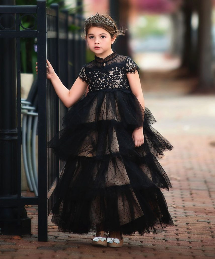 girls fancy black dress, girls tutu dress, girls black dress, zulily girls dress