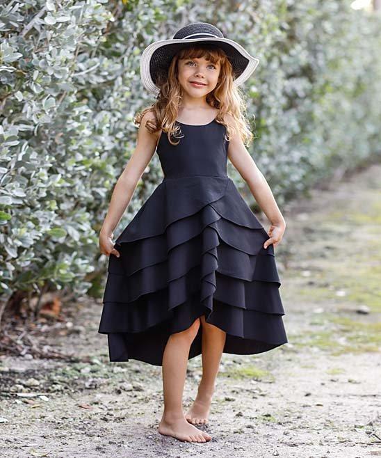 little black dress, lbd, girls black dress, girls tutu black dress