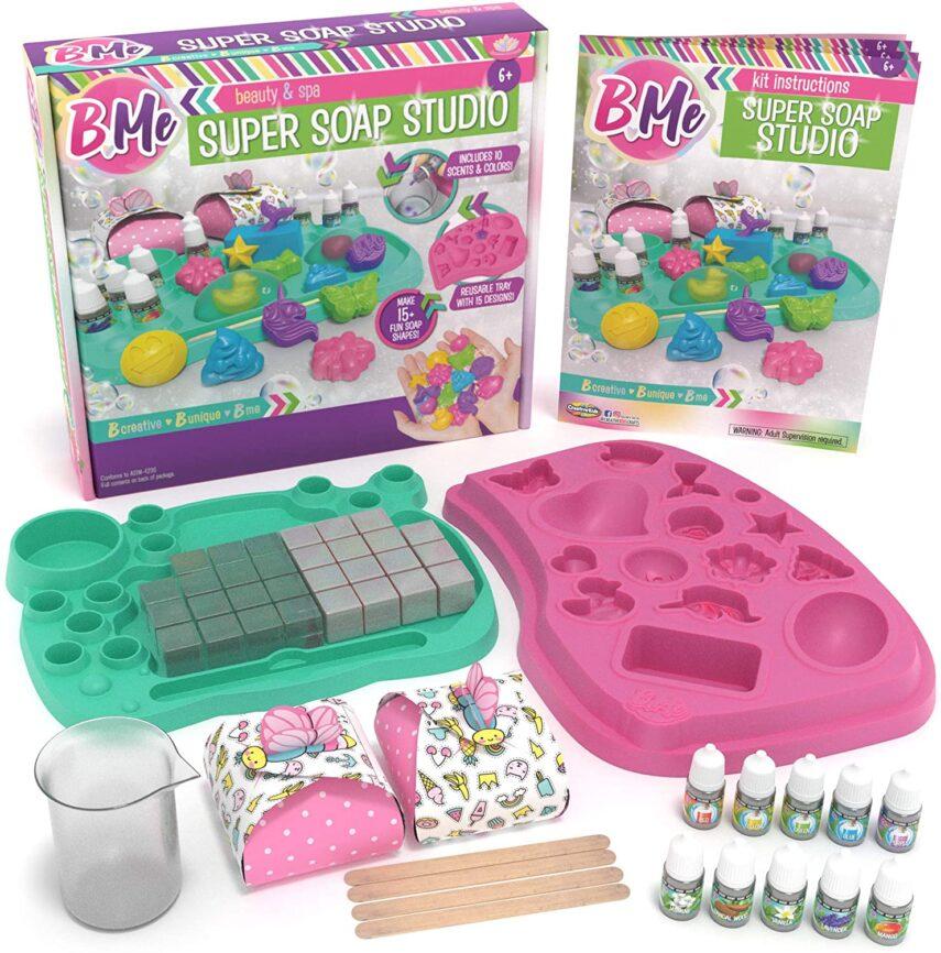 diy soap kit, soap making, make soap, diy soap, corona virus christmas, slumber party activities, bme, corona virus gift