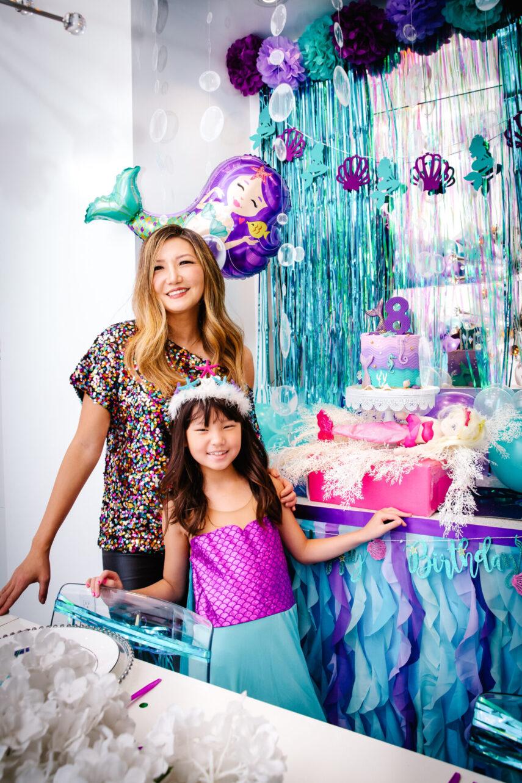 mermaid decor, mermaid food, mermaid theme, mermaid themed party, mermaid party ideas