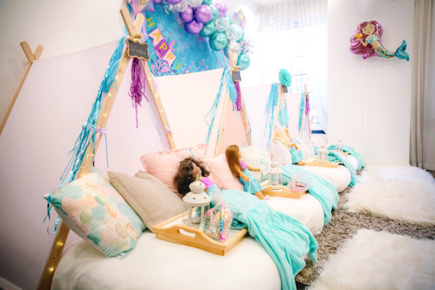 teepee in the city, how to throw a mermaid party